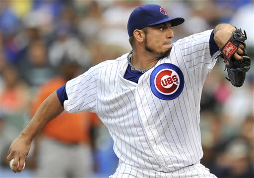 Garza pitches into 9th, Cubs beat Astros 3-1
