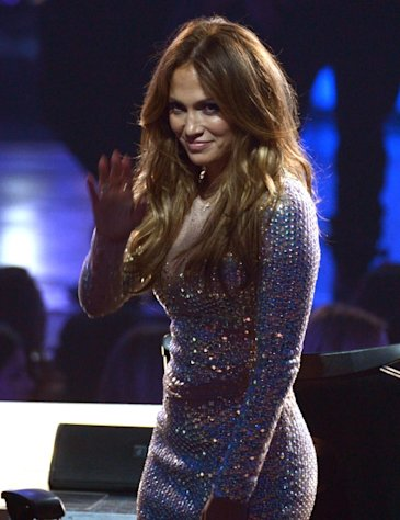 Jennifer Lopez waves during FOX's 'American Idol 2012' results show at Nokia Theatre L.A. Live on May 23, 2012  -- Getty Images