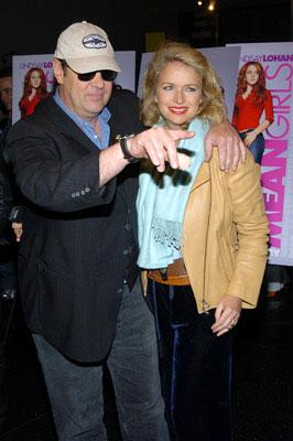 Premiere: Dan Aykroyd and wife Donna Dixon at the New York premiere of Paramount's Mean Girls - 4/23/2004