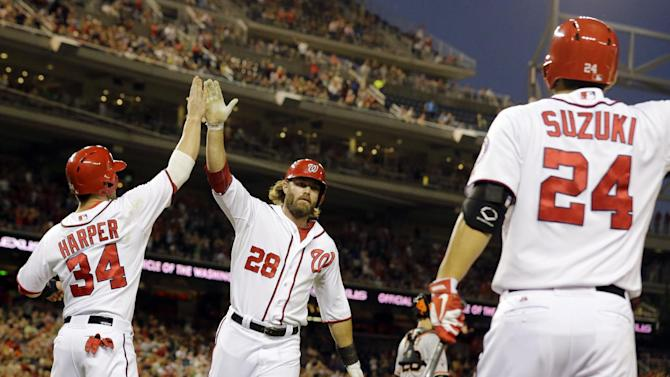 Span's catch helps Nats beat SF for 5th win in row