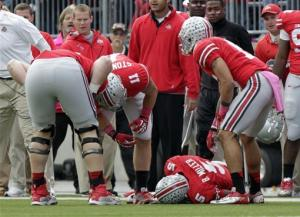 Backup QB leads No. 7 Ohio St past Purdue, 29-22