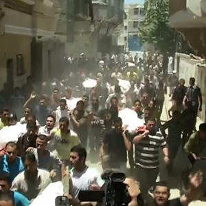 Raw: Funeral in Gaza for Family of 8