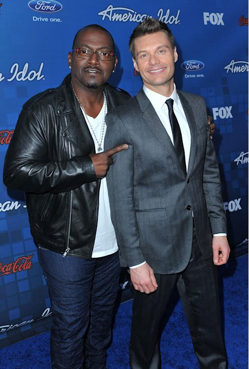 Randy Jackson and Ryan Seacrest arrive at the &quot;American Idol&quot; Top 13 Finalists Party on Thursday, March 3, 2011 at The Grove in Los Angeles, CA. 
