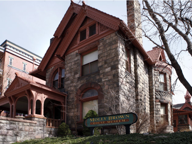 This March 12, 2012 photo shows the front of the Molly Brown House Museum in Denver. A few blocks from Colorado's state Capitol _ over 1700 miles from the Atlantic Ocean and a mile above sea level _ i