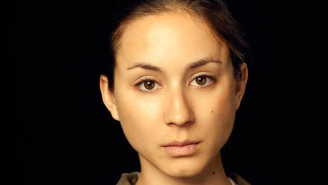 """This image provided by Kayt Jones shows a scene from YouTube's new channel WIGS' """"Lauren,"""" starring Troian Bellisario as a female soldier who reports being raped. The three-part Web series gives a close-up look at the challenges and obstacles women service members face in trying to find justice after being raped. (AP Photo/Kayt Jones)"""