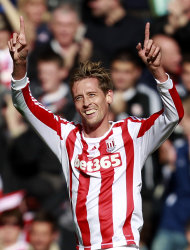 Stoke's two-goal hero Peter Crouch, pictured, was rightly praised by Tony Pulis