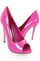 Pink patent peep-toes from amiclubwear.com, $12.99.
