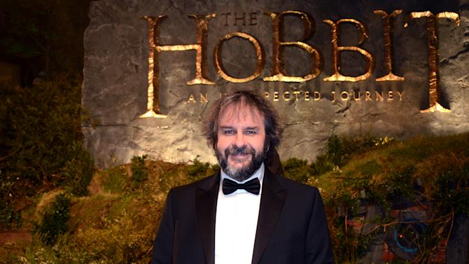 """Director Peter Jackson arrives at the UK premiere of """"The Hobbit: An Unexpected Journey"""" at The Odeon Leicester Square, London on Wednesday, Dec. 12, 2012. (Photo by Jon Furniss/Invision/AP)"""