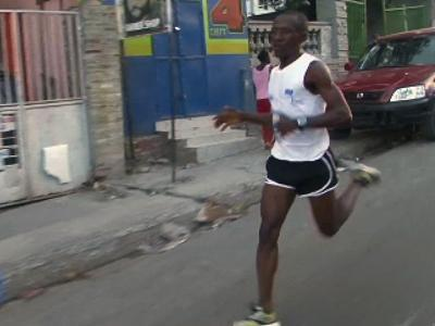 Haitian Runner Hopeful for Post-quake Rebuild