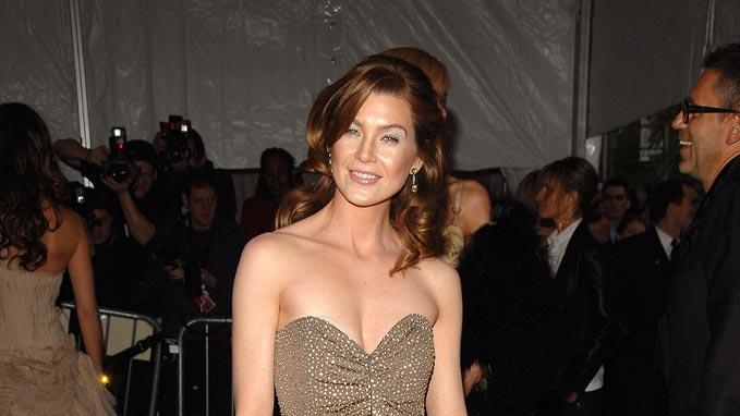 "Ellen Pompeo at the ""Poiret: King of Fashion"" Costume Institute Gala at The Metropolitan Museum of Art."