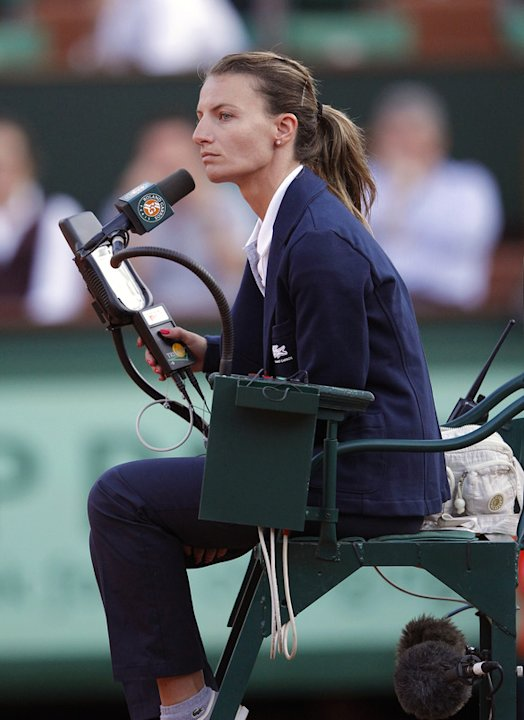 Greek Umpire Eva Asderaki Is AFP/Getty Images