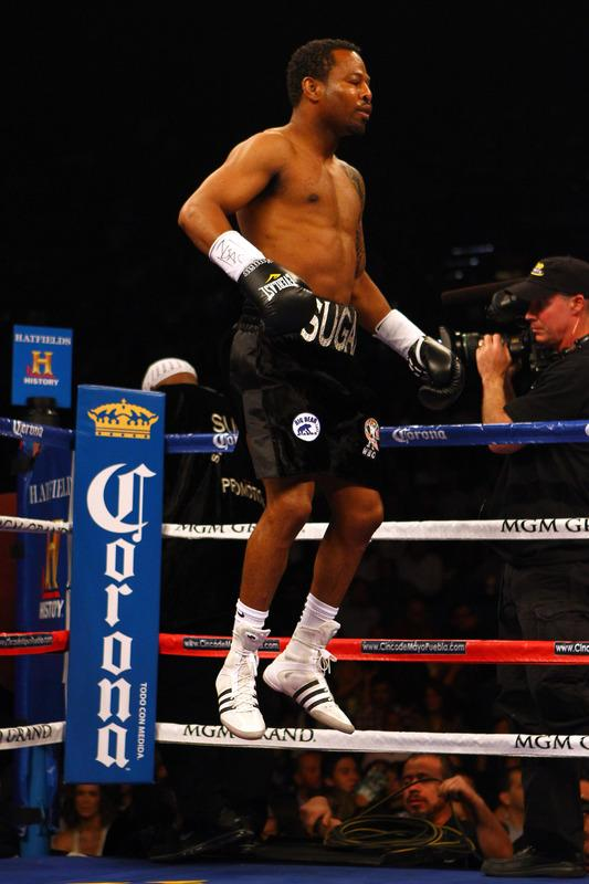 Shane Mosley Jumps Getty Images