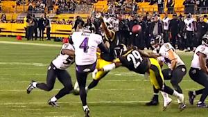 Pittsburgh Steelers block Baltimore Ravens punt for …