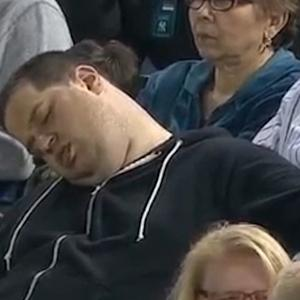 SLEEPY FAN SUES FOR $10 MILLION