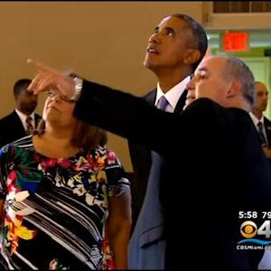 Obama Visits Shrine Of Key Figure In Cuban Community