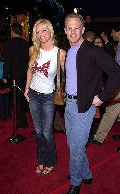 Nikki Schieler and Ian Ziering at the LA premiere for Columbia's Tomcats