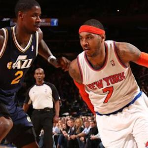 Anthony Leads Knicks over Jazz