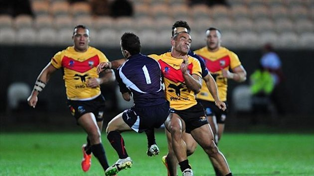 Papua New Guinea's Paul Aiton (right) is set to play against Samoa