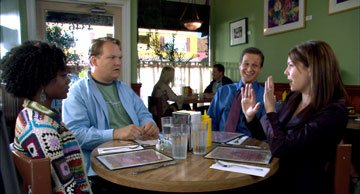 Niki J. Crawford , Andy Richter , Josh Charles and Lauren Graham in Lantern Lane's Seeing Other People