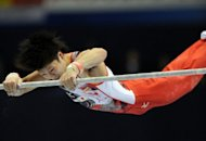 World all-around gymnastics champion Kohei Uchimura, seen here in October 2011, will put thoughts of personal glory aside at the London Olympics to help Japan win the men's team gold medal back from arch-rivals China