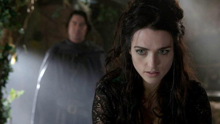 "Katie McGrath as Morgana begins to plot her next attack on Camelot as seen on ""Merlin."""