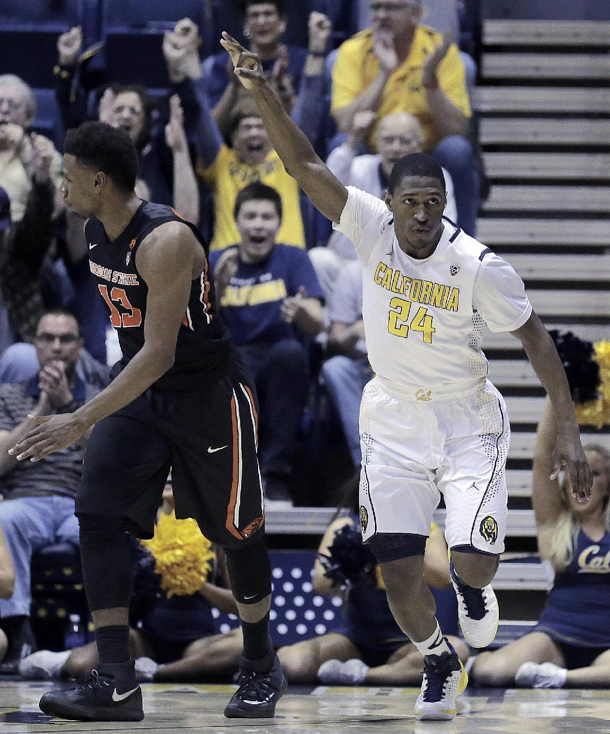 Cal's big run lifts Bears past Oregon State 73-56
