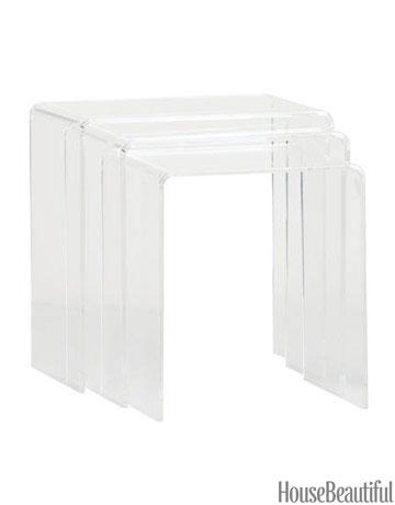 Peekaboo Clear Nesting Tables