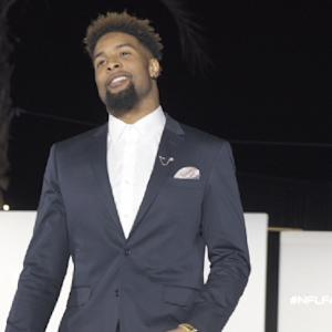 New York Giants wide receiver Odell Bekcham Jr. hosts Super Bowl fashion show
