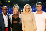 L.A. Reid, Demi Lovato, Britney Spears and Simon Cowell | Photo Credits: Ray Mickshaw / FOX