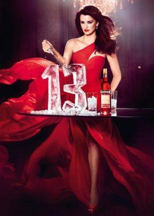 Penelope Cruz Wears Eye-Catching Red Armani in 2013 Campari Calendar