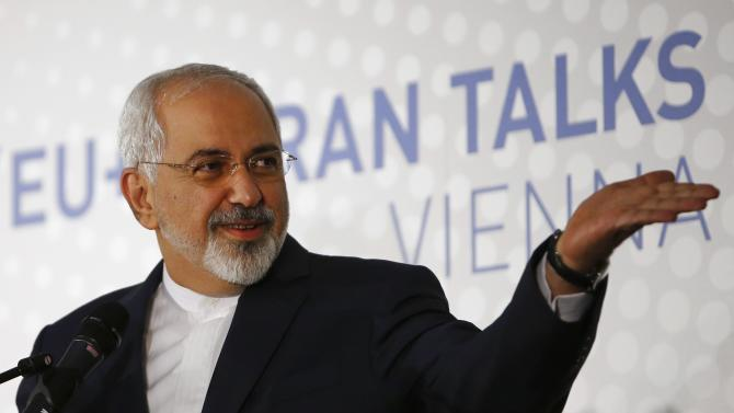 Iranian Foreign Minister Zarif addresses a news conference after a meeting in Vienna