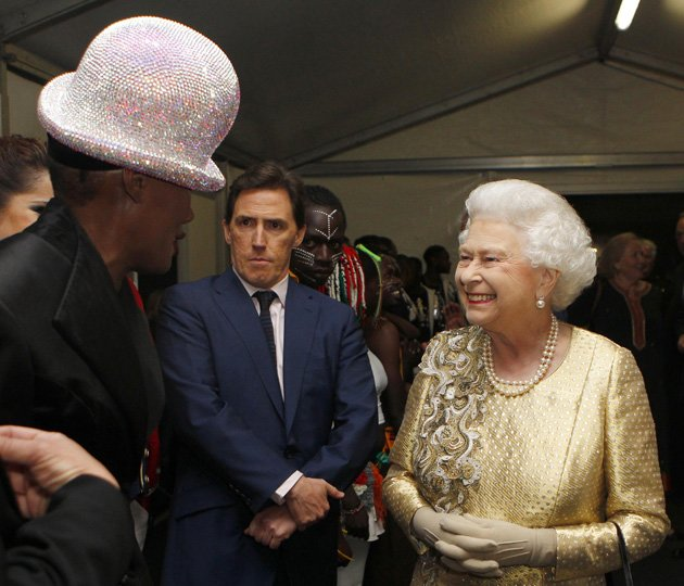 Grace Jones, Queen, backstage, Diamond Jubilee Concert