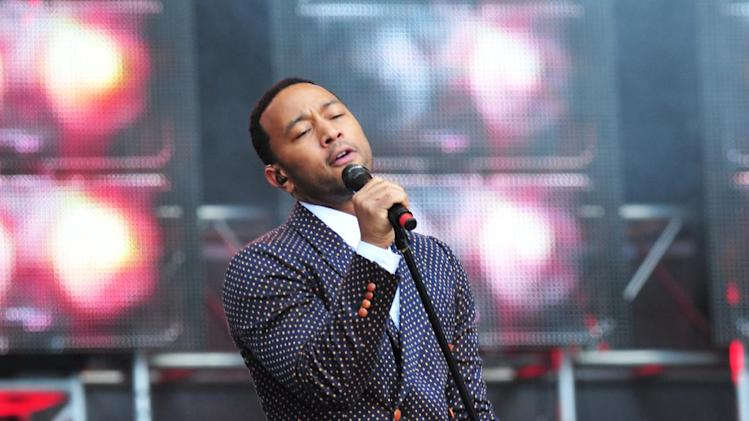 John Legend performs at The Sound of Change Live at Twickenham Stadium in London on Saturday, June 1st, 2013. (Photo by Jon Furniss/Invision/AP Images)