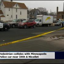 Police: Pedestrian Injured After Collision With Squad Car