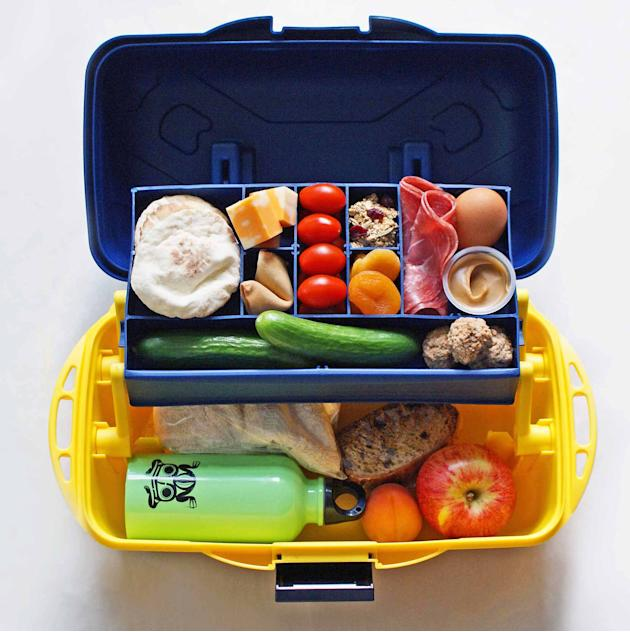 Turn a fishing tackle or craft box into a bento