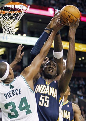 Granger leads Pacers past Boston's Big 3, 87-74
