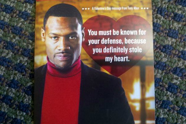 Grizzlies Valentine's Day cards are the key to love.