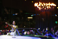 British singer Jessie J performs during the Closing Ceremony at the 2012 Summer Olympics, Sunday, Aug. 12, 2012, in London. (AP Photo/Jae C. Hong)