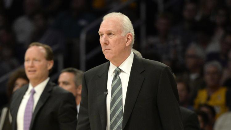 NBA: Playoffs-San Antonio Spurs at Los Angeles Lakers