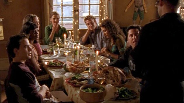 "A scene from the ""Felicity"" episode ""The Last Thanksgiving."""