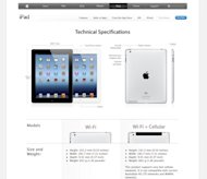 "The new 4G iPad is rebranded as the ""Wi-Fi + Cellular"" model on Apple's Australian website"