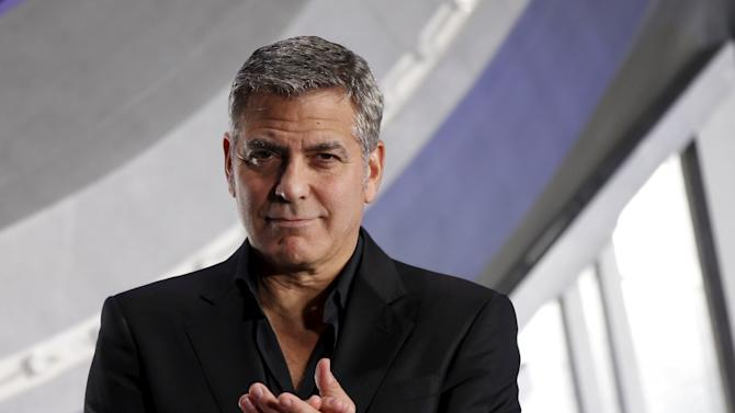 "Cast member George Clooney attends the Japan premiere of the movie ""Tomorrowland"" in Tokyo"
