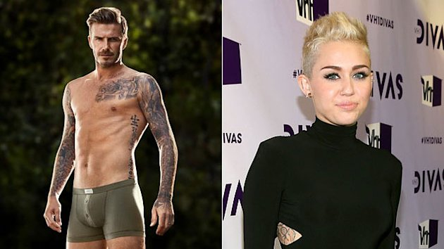 Buzzmakers: Beckham Strips & Miley Loves Her Hair