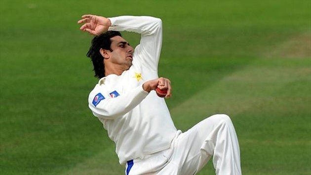 Saeed Ajmal, pictured, claimed the wicket of Malcolm Waller
