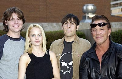 Patrick Fugit, Mena Suvari, Jason Schwartzman and Mickey Rourke