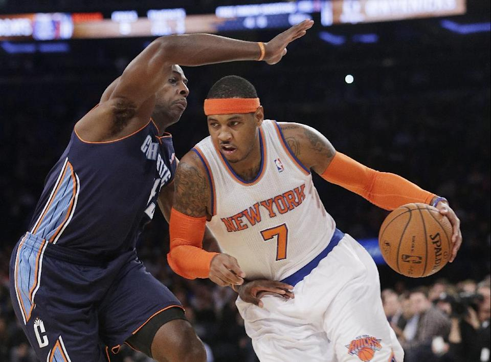 Walker, Bobcats rally, spoil Knicks' return to MSG