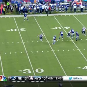 New York Giants running back Kendall Gaskins' 1-handed catch
