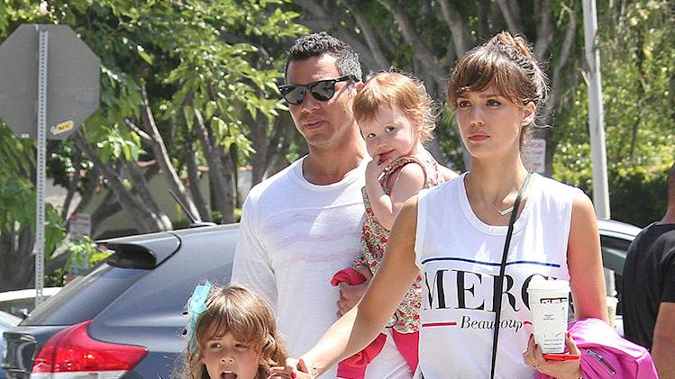 Jessica Alba & Family Go to Honor's Recital