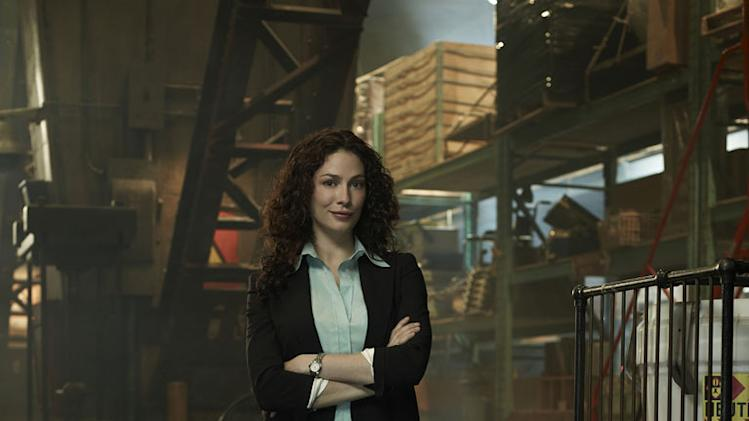 "Joanne Kelly stars as Myka Bering in ""Warehouse 13."""