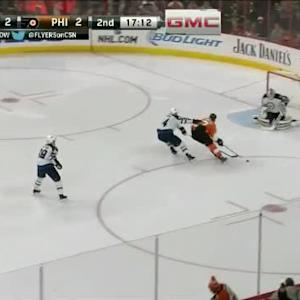 Michael Hutchinson Save on Wayne Simmonds (02:49/2nd)